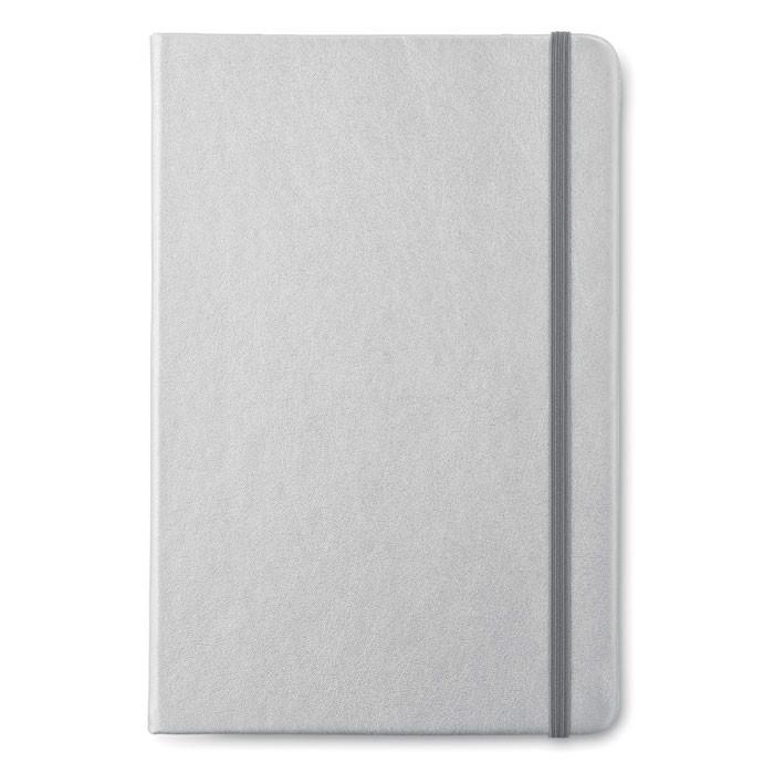 Notatnik A5 w linie Goldies Book - srebrny mat