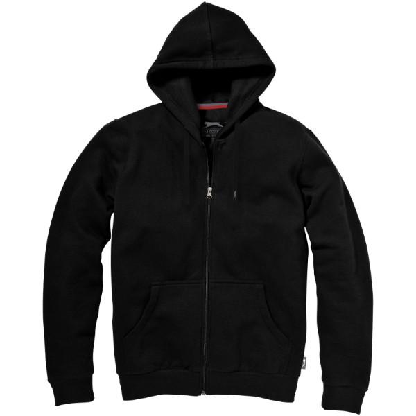 Mikina Open s kapucí, zip v celé délce - Černá / 3XL