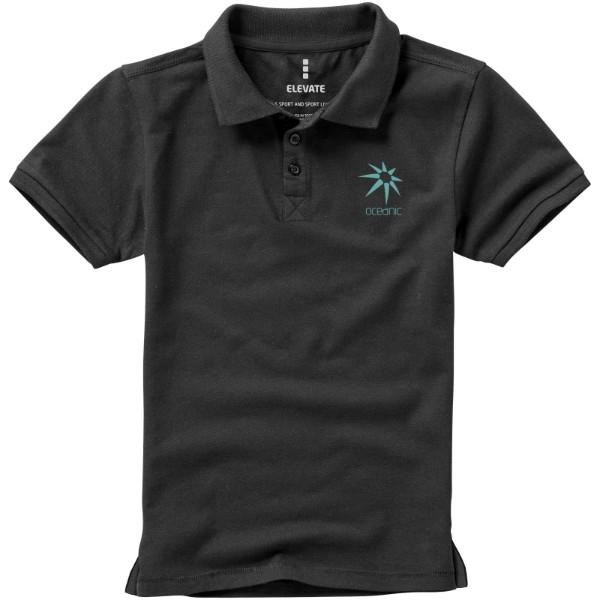 Calgary short sleeve kids polo - Anthracite / 128