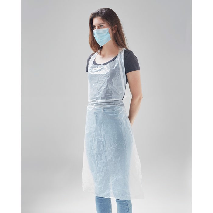 100 disposable aprons in bag Apronbag