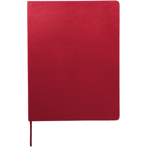 Classic XL soft cover notebook - squared - Scarlet red