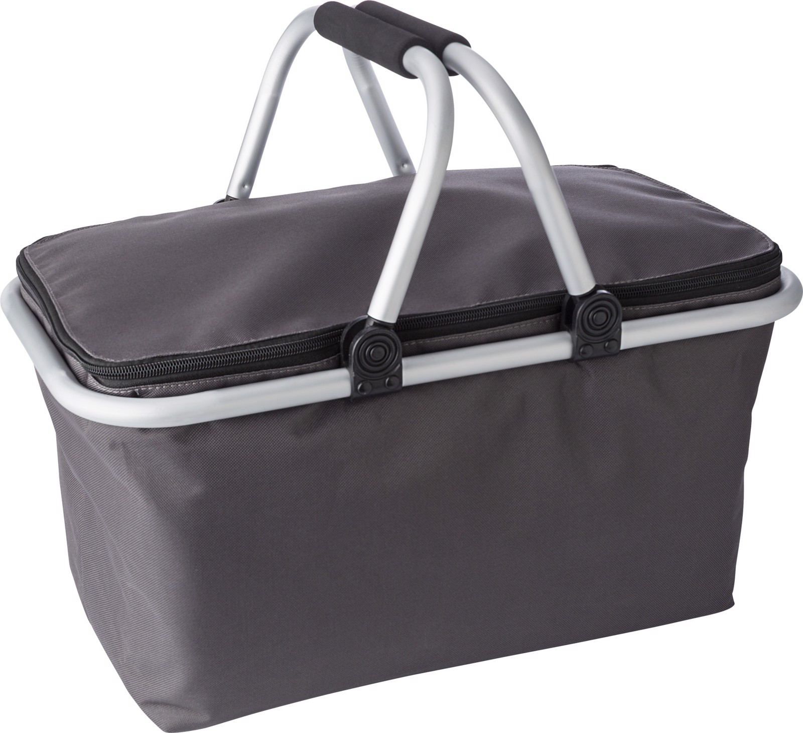 Polyester (320-330 gr/m²) shopping basket. - Grey