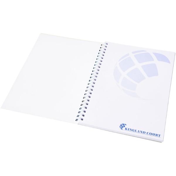 PP obal poznámkového bloku Desk-Mate® wire-o A5 - Bílá / 50 pages