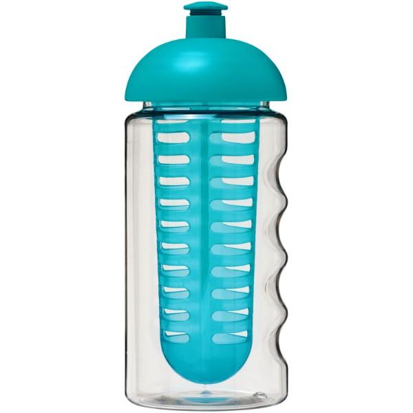 Sportovní láhev s infuzérem a kupolovitýmvíčkem H2O Bop® 500 ml - Transparent / Tyrkysově Modrá