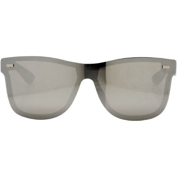 Shield sunglasses with full mirrored lens - Silver