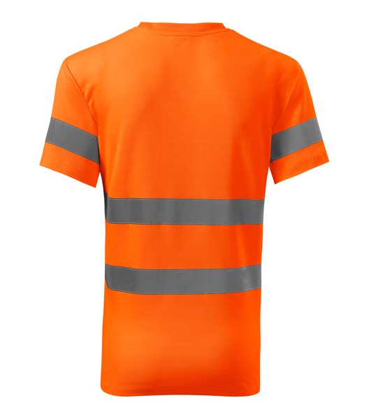 Tričko unisex Rimeck HV Protect - Fluorescenční Oranžová / M