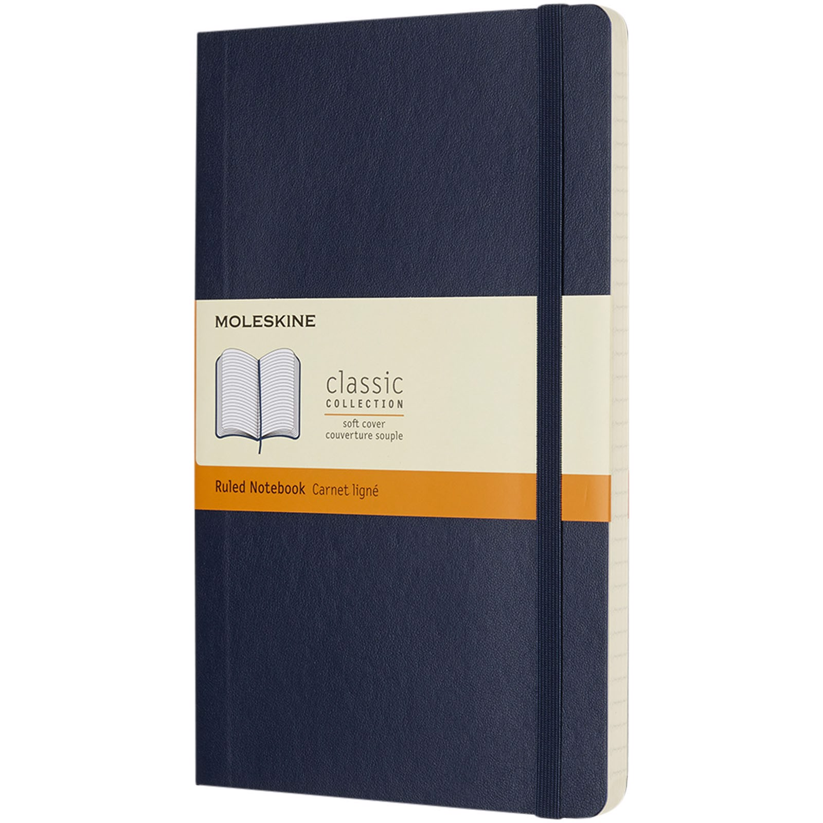 Classic L soft cover notebook - ruled - Sapphire blue