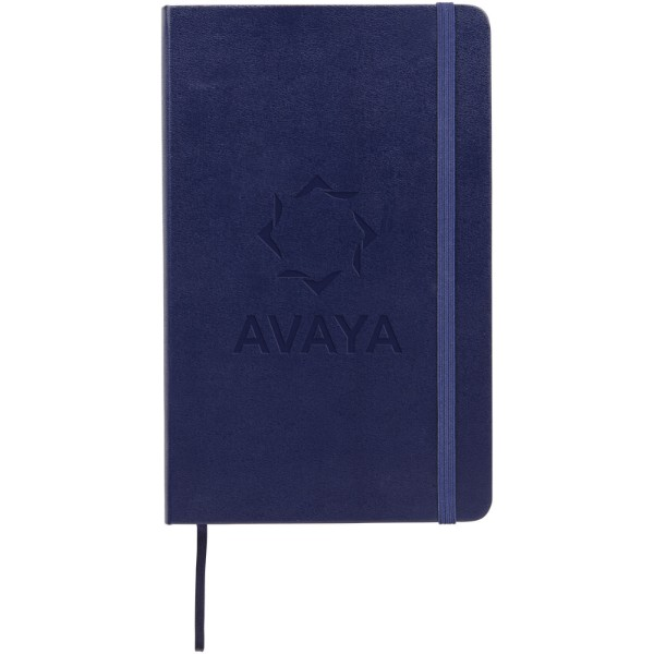 Classic L hard cover notebook - ruled - Prussian blue