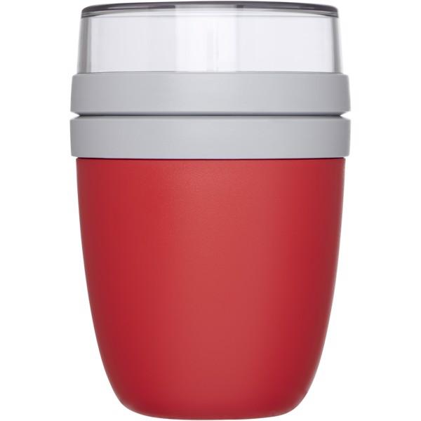 Ellipse nádoba na oběd - Červená s efektem námrazy