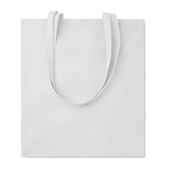 140gr/m² cotton shopping bag Cottonel Colour + - White