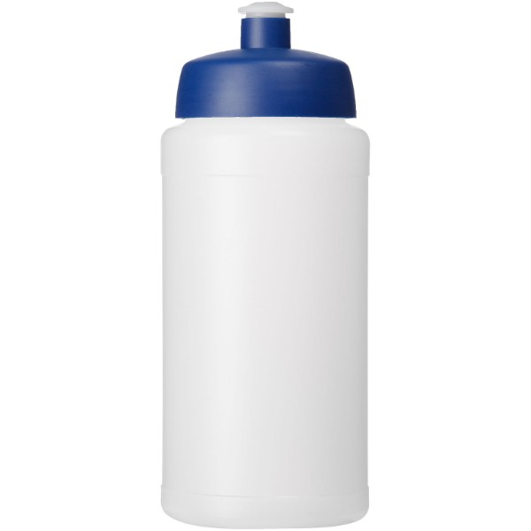 Baseline® Plus grip 500 ml sports lid sport bottle - Transparent / Blue