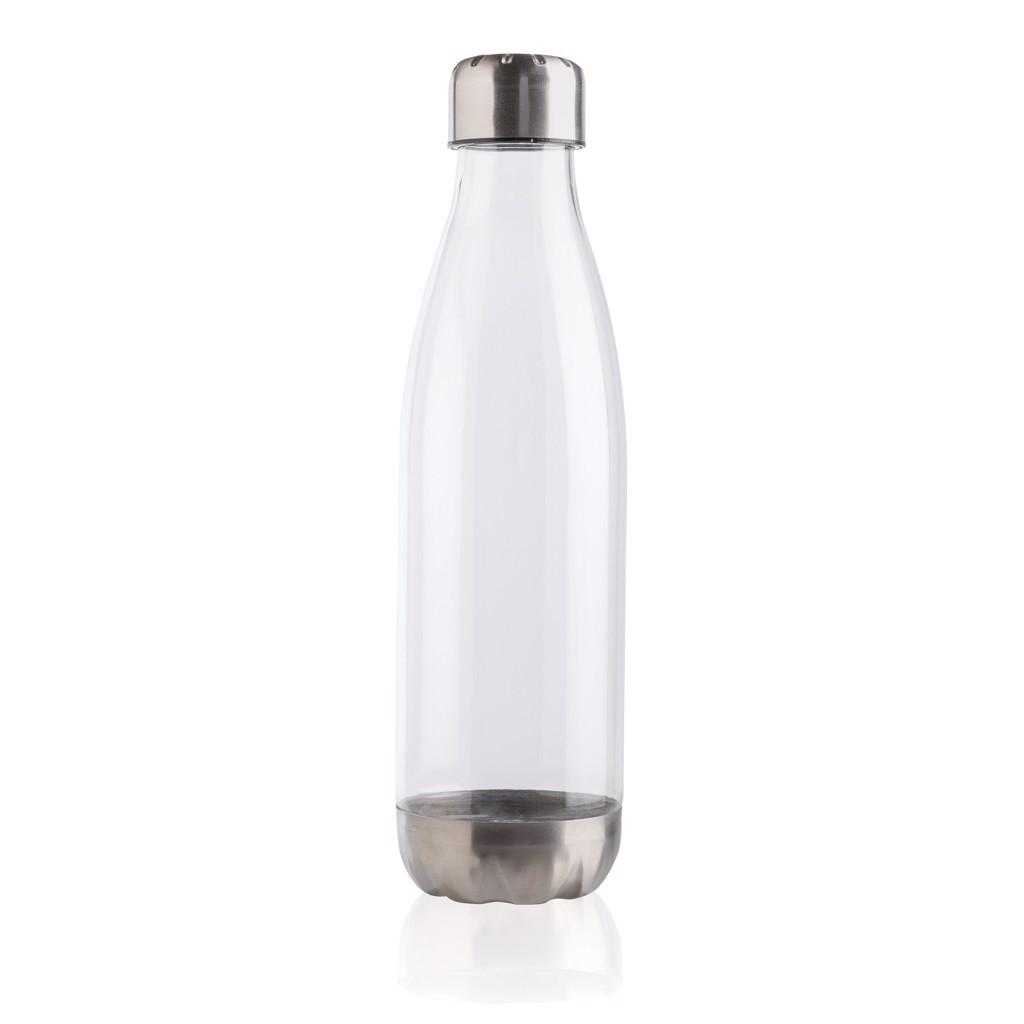 Nepropustná lahev s nerezovým uzávěrem - Průhledné