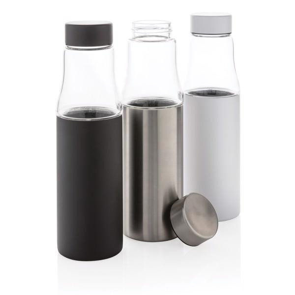 Nepropustná skleněná termo láhev Hybrid - Černá