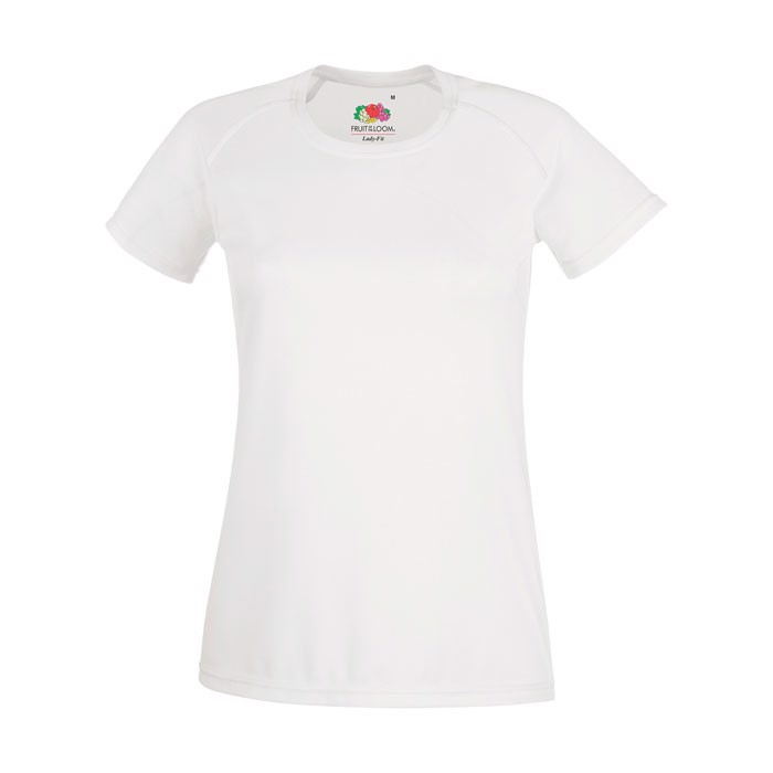 Női sport póló Lady-Fit Performance 61-392-0 - White / XS