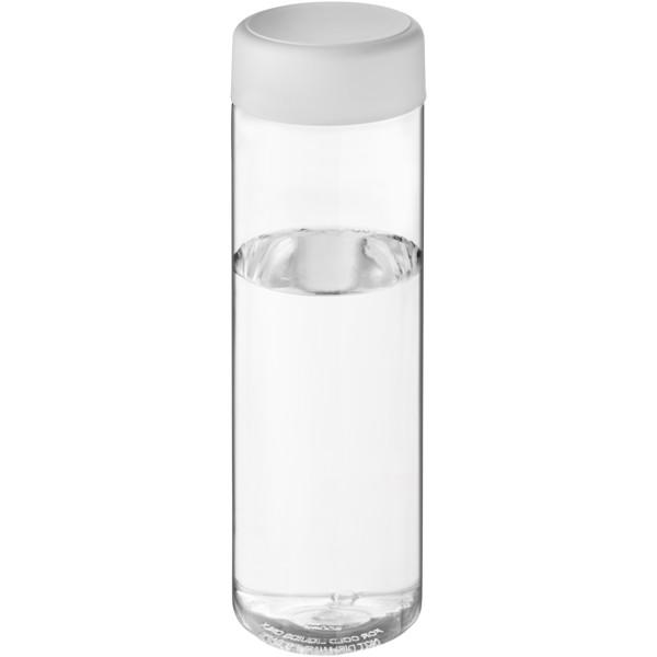 H2O Vibe 850 ml screw cap water bottle - Przezroczysty / Biały