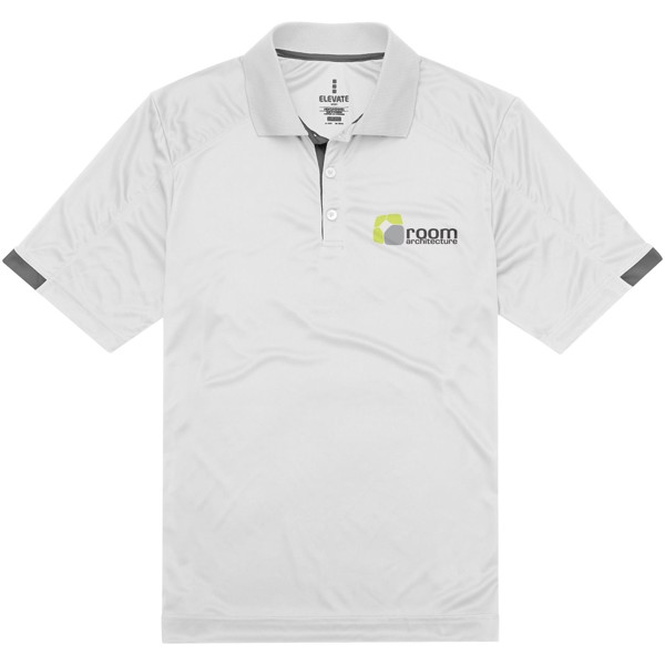 Kiso short sleeve men's cool fit polo - White / XS