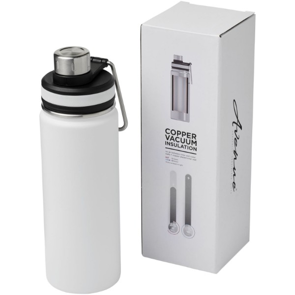 Gessi 590 ml copper vacuum insulated sport bottle - White