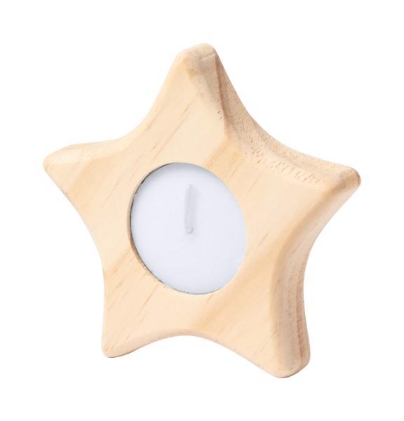 Candle Holder Deram, Star - Natural