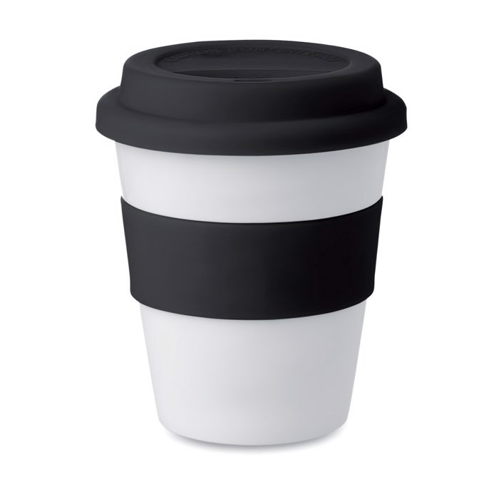 PP tumbler with silicone lid Astoria - Black