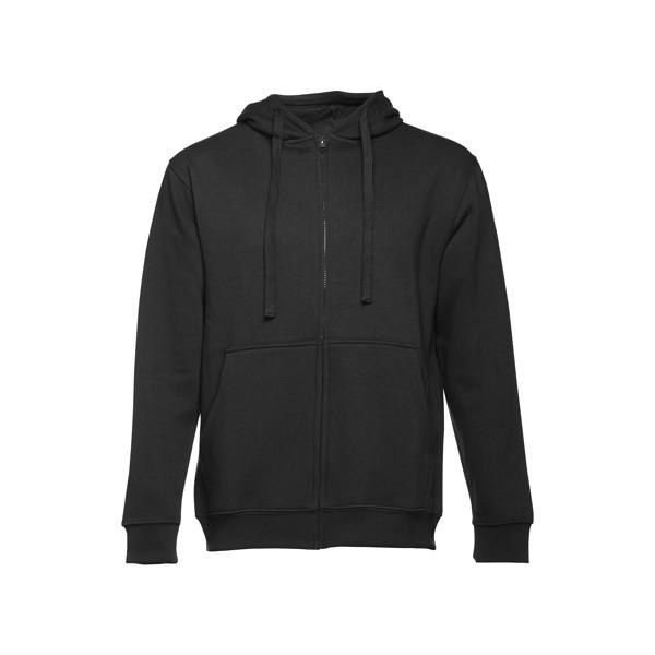 AMSTERDAM. Ανδρική μπλούζα με κουκούλα - Μαύρο / XL