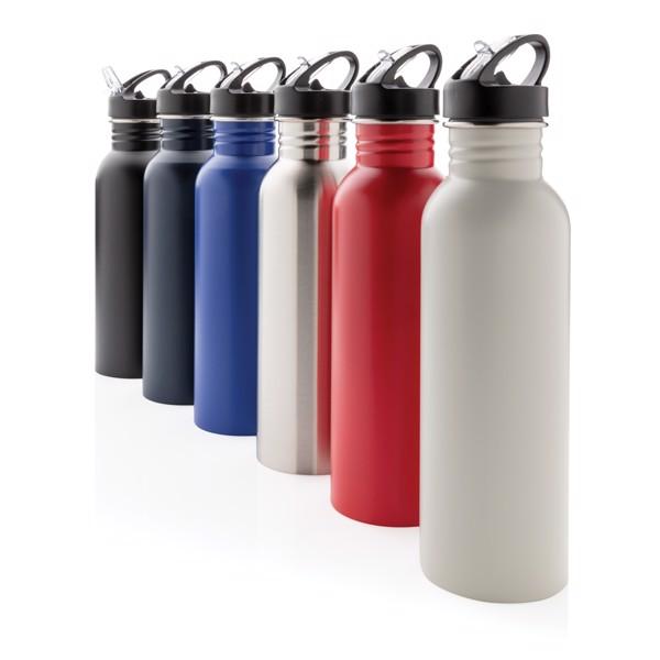 Športová fľaša na vodu z nehrdzavejúcej ocele - Námořní Modř