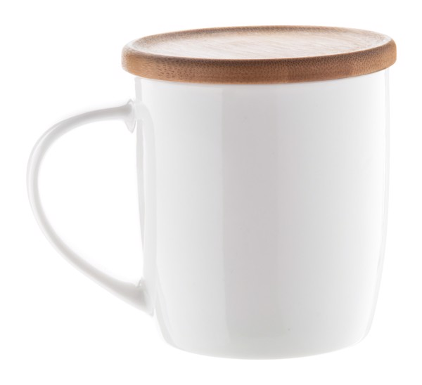 Porzellan-Tasse Hestia - Weiß / Natur