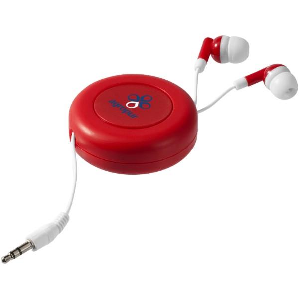 Samonavíjecí sluchátka Reely - Červená s efektem námrazy / Bílá