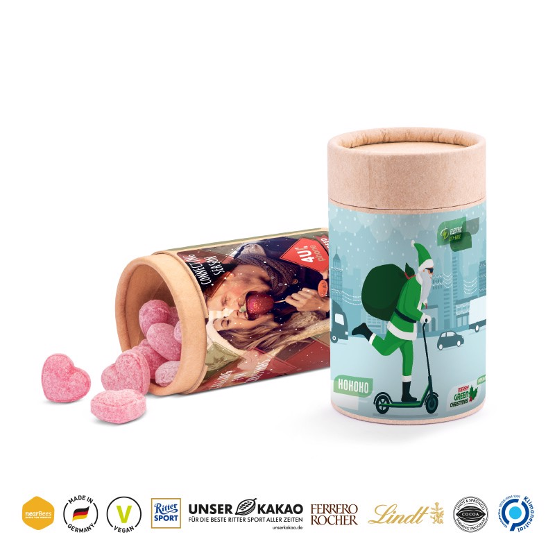 Papierdose Eco Midi Lindor Milch Kugeln - Braun / Lindor Milch Kugeln