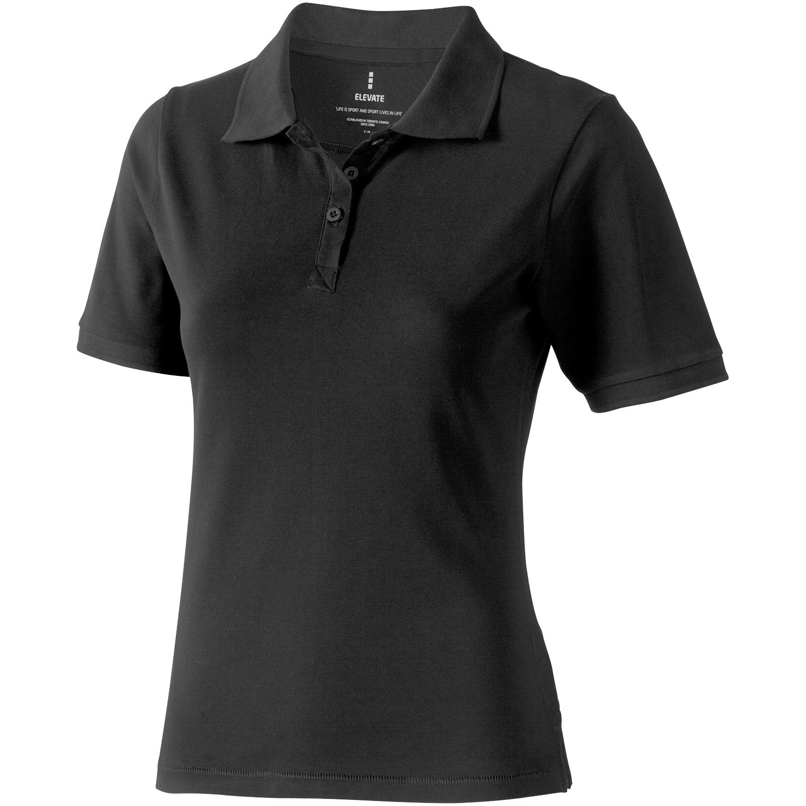 Calgary short sleeve women's polo - Anthracite / S