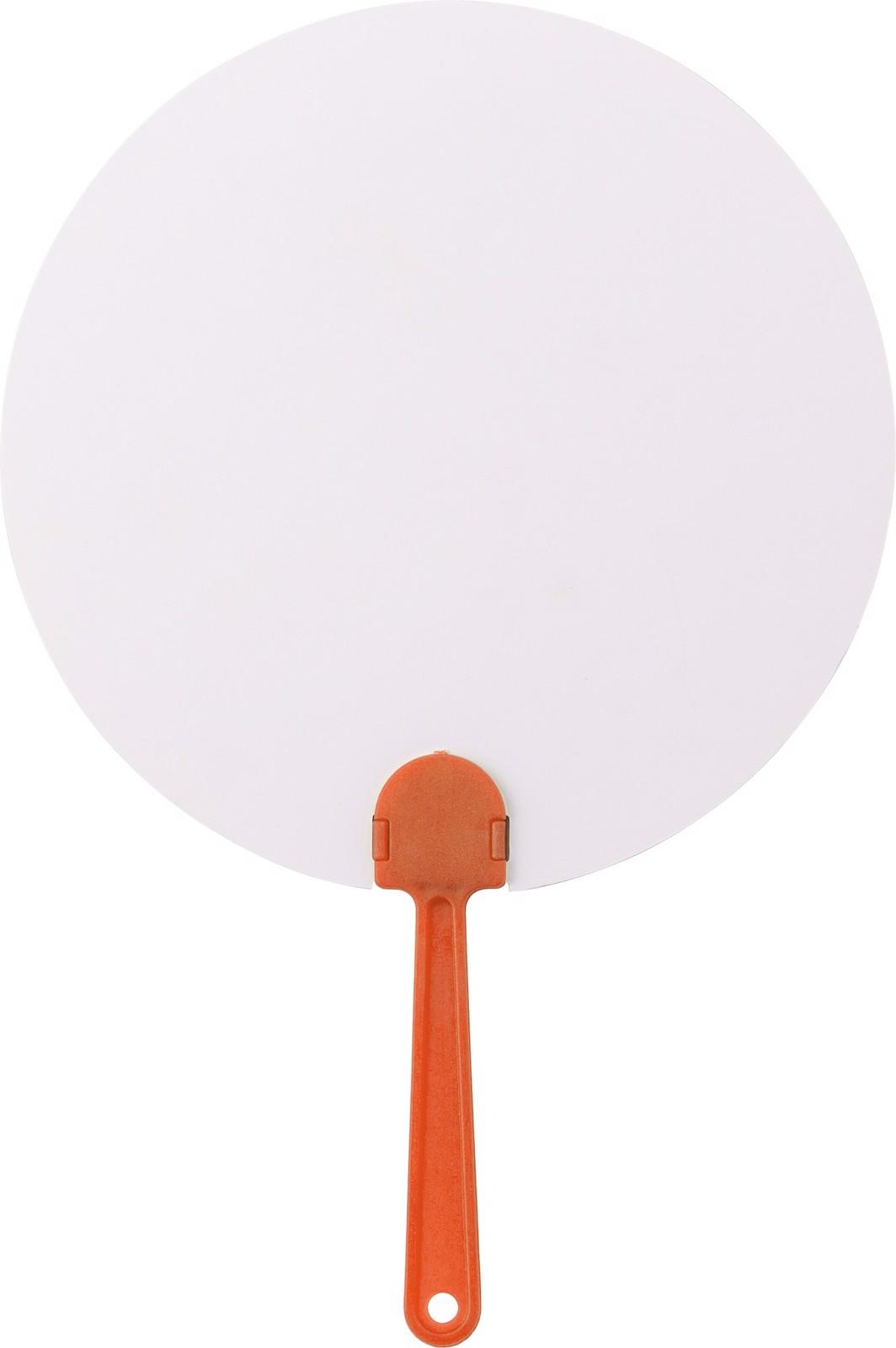 Paper hand fan - Orange