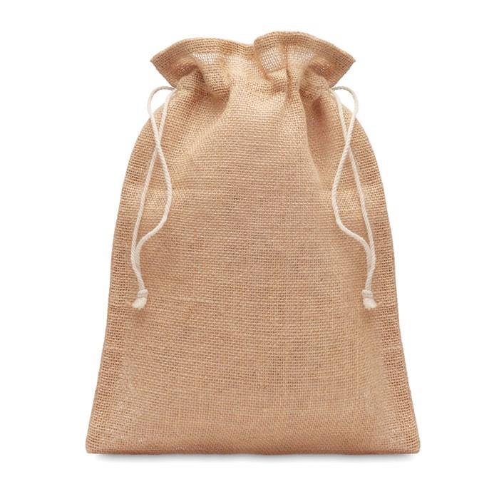 Srednja darilna vrečka iz jute velikosti 25 x 32 cm Jute Medium