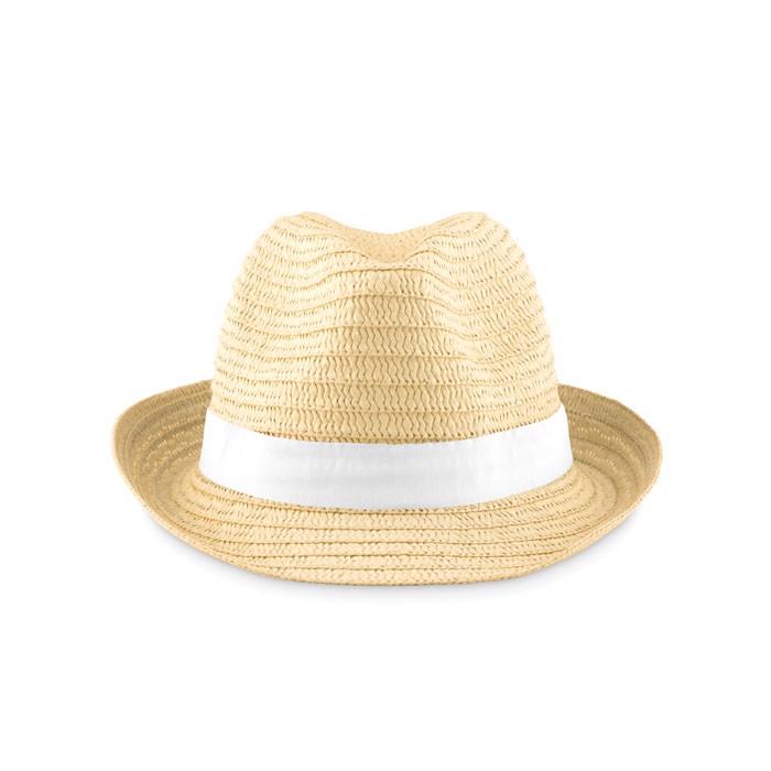 Paper straw hat Boogie - White