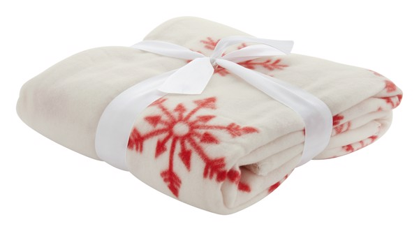 Polar Blanket Uppsala - White / Red