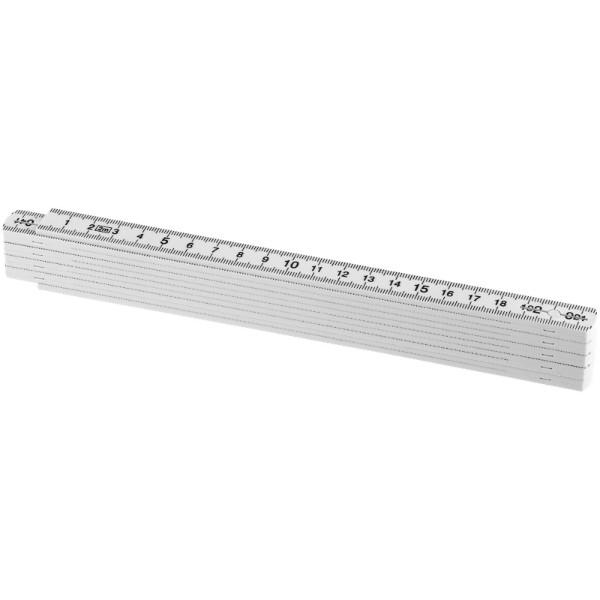 Monty 2 metre foldable ruler - White