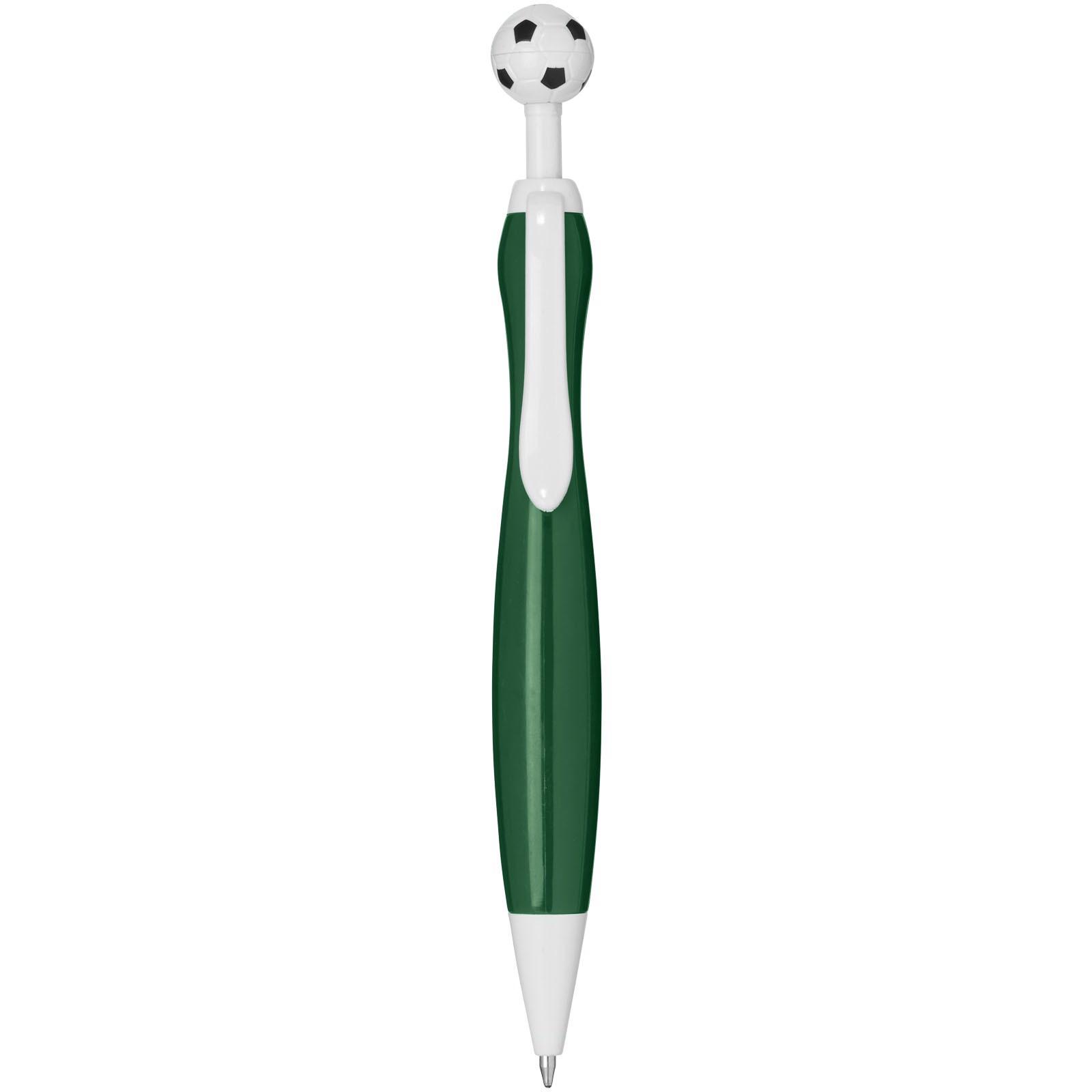 Długopis ze wciskiem w kształcie piłki nożnej Naples - Zielony