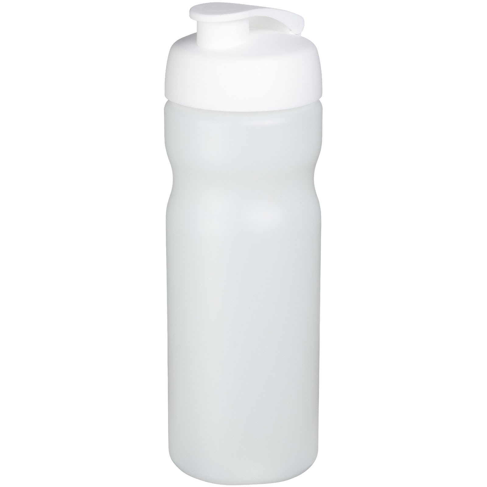 Baseline® Plus 650 ml flip lid sport bottle - Transparent / White