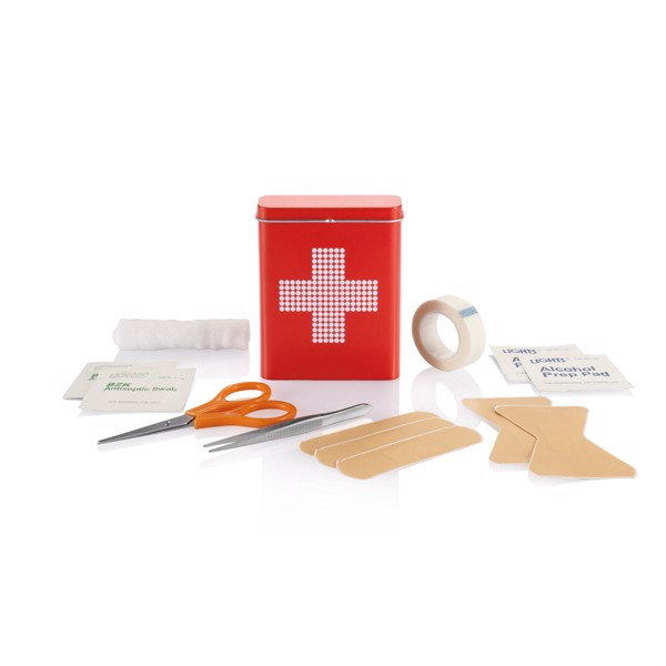 First aid tin box