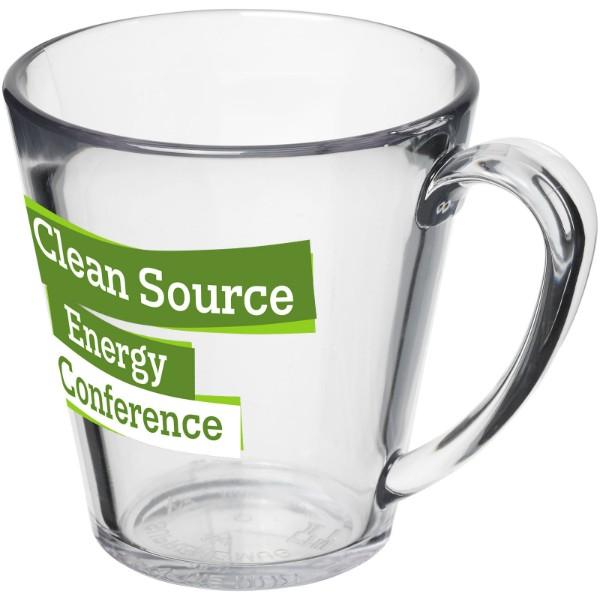 Supreme 350 ml plastic mug - Transparent clear