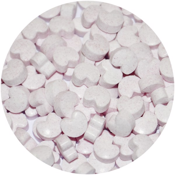 Clic clac heart shaped strawberry sweets - White