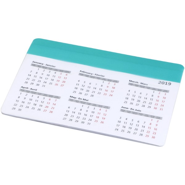 Chart mouse pad with calendar - Mint
