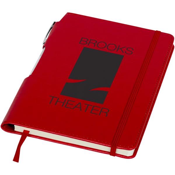 Zápisník s měkkou obálkou A5 a pero Panama - Červená s efektem námrazy