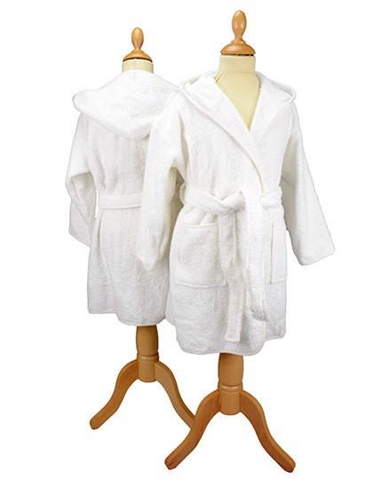 Boyzz & Girlzz® Hooded Bathrobe - White / White / 140/152