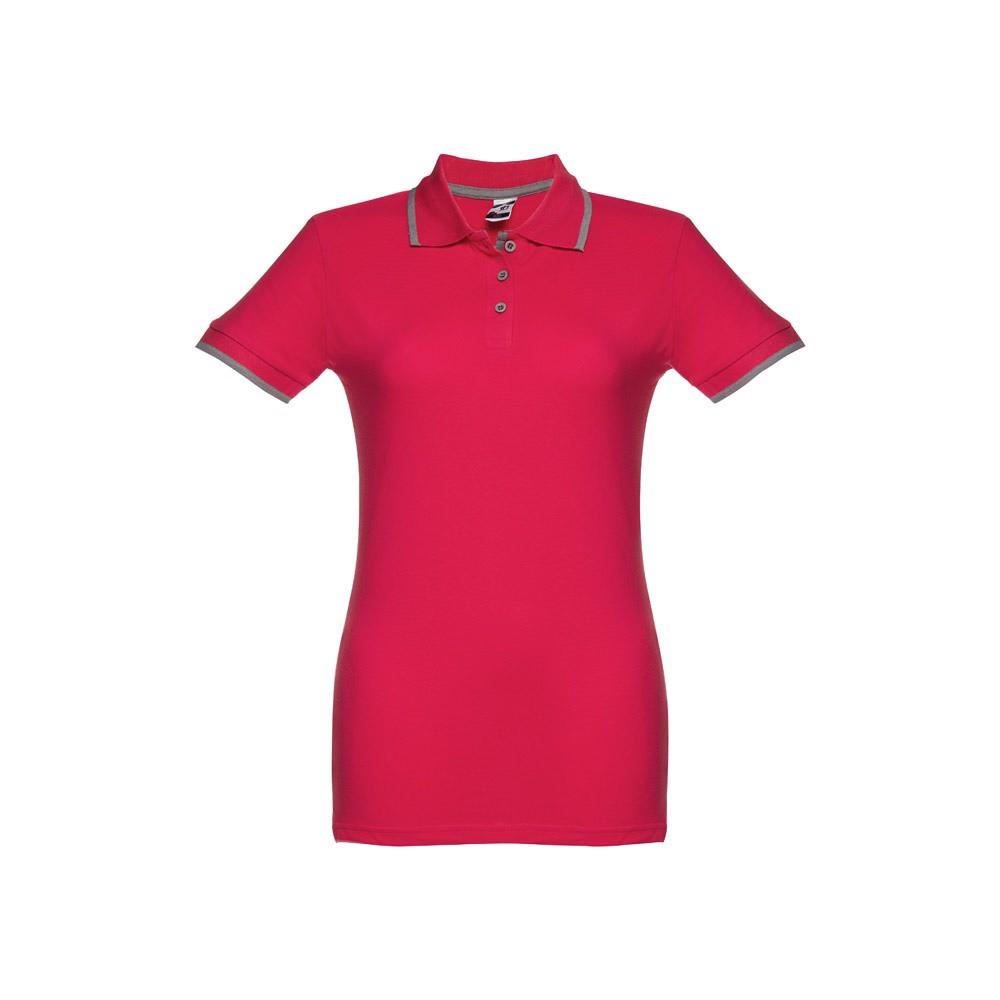 ROME WOMEN. Γυναικεία πόλο μπλούζα slimfit - Κόκκινο / S