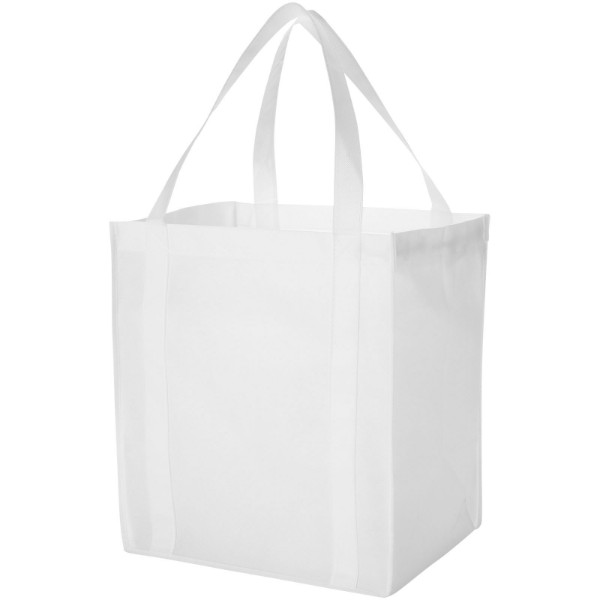 Liberty bottom board non-woven tote bag - White