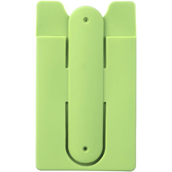 Sluchátka s kabelem a silikonové pouzdro na telefon - Limetka