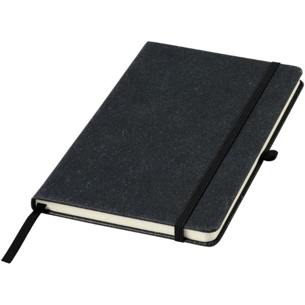 Atlana zápisník A5 s kousky kůže - Černá