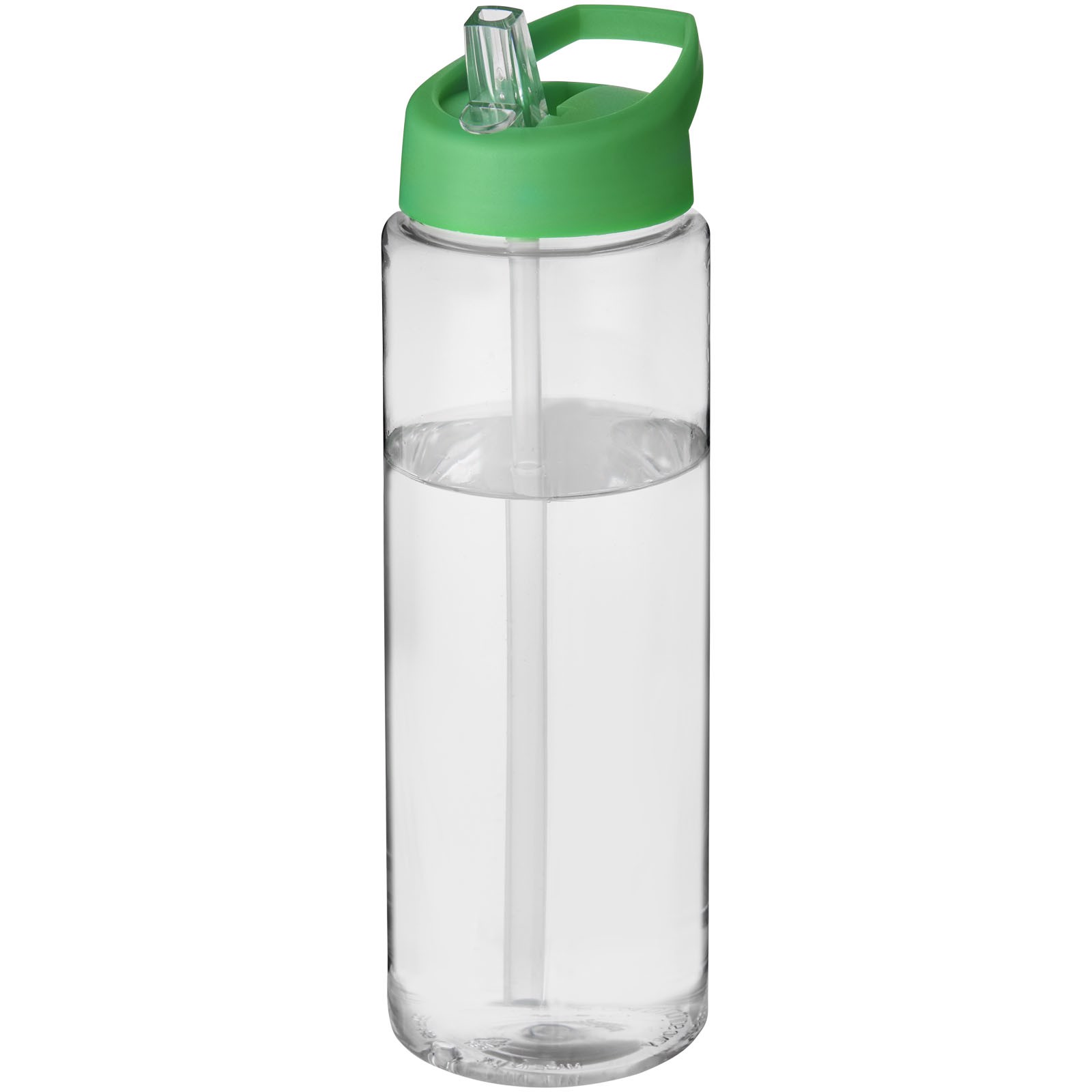 H2O Vibe 850 ml sportovní lahev s víčkem s hubičkou - Průhledná / Zelená