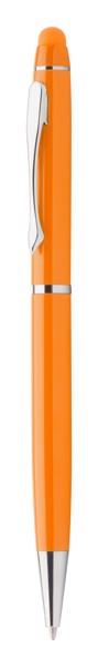 Dotykové Kuličkové Pero Bolcon - Oranžová / Průhledná