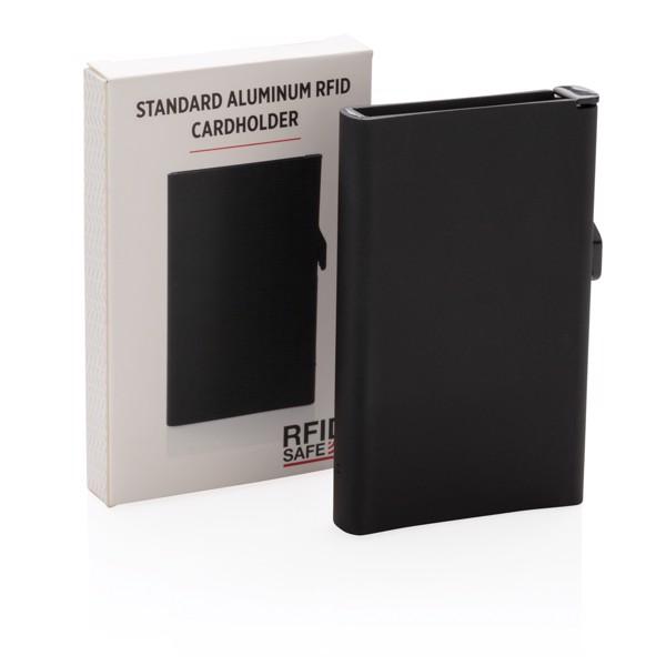 Hliníkové RFID pouzdro na karty - Černá