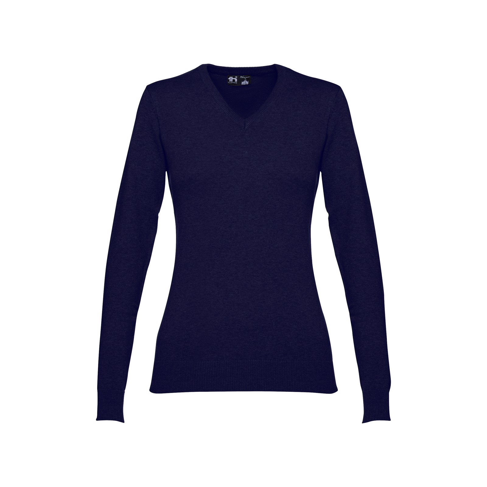 MILAN WOMEN. Γυναικείο πουλόβερ - λαιμόκοψη - Ναυτικό Μπλε / S